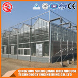 Agriculture Steel Frame / Aluminium Profile Polycarbonate Sheet Greenhouse for Flower