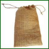 自然で黒い大豆のジュート袋