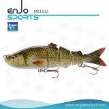 La pesca plástica baja pesquera articulada multi de Swimbait del cebo bajo realista del señuelo engaña (MS1512)