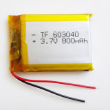 3.7V 800mAh 603040 de Navulbare Batterij van Lipo van het Polymeer van het Lithium voor MP3 MP4 MP5 Van het diy- Stootkussen Dvd e--Boek de Hoofdtelefoon van Bluetooth