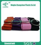 A curvatura 100% durável da correia da ioga de Pilate do algodão da alta qualidade prende a cinta da ioga