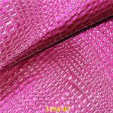 Couro ambiental de qualidade superior para sacos com grão de jacaré