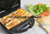 Hot Sale 2 tranches de Sandwich électrique grille-pain le petit-déjeuner Maker