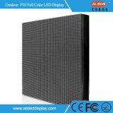 Visualización de pared video al aire libre a todo color del alquiler P10 LED de HD