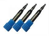 Modificado para requisitos particulares 2/3 molino de extremo sólido de la nariz de la bola de la forma cónica del carburo de las flautas