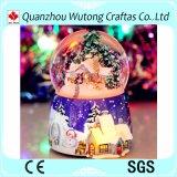 カスタム樹脂の屋内クリスマスの装飾音楽雪玉