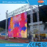 屋外のフルカラーP4 SMD2525 256*128mm LED表示掲示板