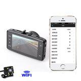 Gravador de vídeo duplo de WiFi da lente para a caixa negra do carro