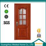 Custom PVC Wood MDF Door com vidro para projetos de casas