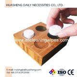 Bandejas de bambú para toalla comprimida de tejido de moneda