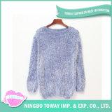 L'acrylique couleur de la laine à tricoter à la mode pull fille à la main