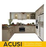 De hete Verkopende Amerikaanse Keukenkasten van de Stijl van U Stevige Houten (ACS2-W10)