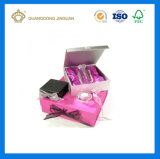 Rectángulo de regalo de papel de empaquetado cosmético poner crema de Skincare de la tarjeta de oro de la alta calidad (con la bandeja interna)