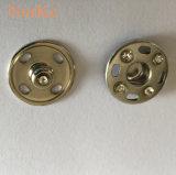 Латунные металлические шитье на пружинное стопорное кнопка с алмазной