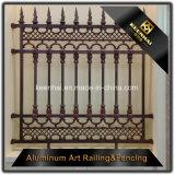 Panneaux d'clôture de style classique Clôture de jardin en aluminium avec sécurité élevée