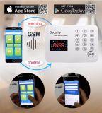 GSM van de Veiligheid van het Scherm van de Kleur van de aanraking het Draadloze Alarm van de Indringer Burgular
