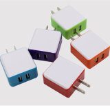 EU wir Au-Stecker bewegliche Doppel-Kanal-Telefon-Aufladeeinheits-Arbeitsweg-Wand-Aufladeeinheit USB-2 für Handy