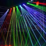 Farbenreicher beweglicher Kopf-Laser des DJ-Disco-Stadiums-4W RGB