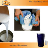 석고 처마 장식 형 만들기를 위한 액체 백색 RTV-2 실리콘고무