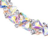 Juwelen van de Halsband van de Nauwsluitende halsketting van het Kristal van het Satijn van de manier de Kleurrijke