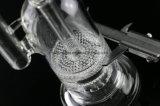 """"""" Klokvormig """" - Dubbele Honingraat Perc met de Showerhead Gebogen Waterpijp van het Glas van de Hals"""