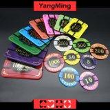 Анти--Подделывать/кристаллический обломоки покера с казином изображения тигра откалывают Ym-CP020/CP021