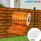 Una buena calidad Holzdekor 450g de 19cm*35m de valla de jardín de la pantalla de tiras de PVC