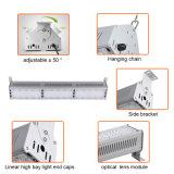 lampe élevée linéaire en aluminium de lumière de compartiment de 150W DEL pour industriel