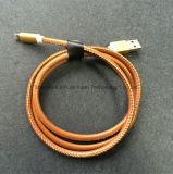 Durable Micro USB Cable 8pin + Couro Max para 2.4A Fast USB Carregando Cabo de Dados para Android / Ios Smart Phone