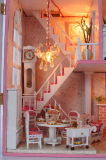 卸し売り新しいデザインピンクの木のDolの家