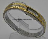 Orologi d'ottone del braccialetto di modo per la piccola manopola delle signore