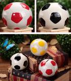 Fãs de Futebol Forma de bola Mealheiro Caixa de dinheiro Sports Charm Soccer Ball Ceramics