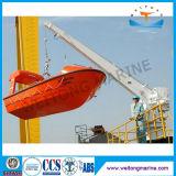 Único turco do barco do giro do braço para o liferaft & o bote de salvamento com guindaste