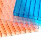 Hoja hueco de Policarbonato del policarbonato con ULTRAVIOLETA protegida