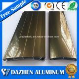 Profil en aluminium en aluminium populaire avec différentes couleurs pour le guichet de porte d'obturateur de rouleau