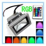 Outdooring 점화를 위한 빨강 녹색 또는 파랗고 또는 노란 또는 백색 색깔 RGB LED 투광램프