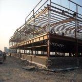 Estructura de acero prefabricada edificio con dos pisos.