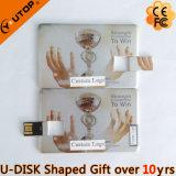 Mecanismo impulsor de la tarjeta de crédito de aluminio del flash del USB del eslabón giratorio como regalos de la taza (YT-3114-03)