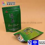 Levar in piedi in su il sacchetto a chiusura lampo di imballaggio di plastica del tè