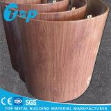 Панель плакирования деревянного взгляда алюминиевая одностеночная для крышки колонки