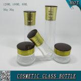 Garrafas de vidro e garrafas de vidro cosmético claro