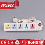 cordons de prolonge électriques de vente en gros bon marché des prix de la voie 220V 5