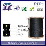 FRPのガラス繊維G657A Sm 2のファイバーGJXFHの黒の視覚FTTHの引込み線ケーブル