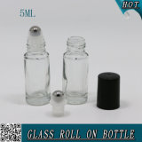 5ml Cylinder Clear Roll on Glass Perfume Bottle Cosmetics
