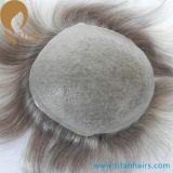 Haar-Systeme indisches Remy Haar-der super dünnen Haut-Männer