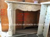 Cornija de lareira de mármore branca da chaminé do disconto no estoque (SY-MFP12312)