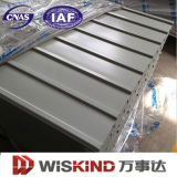 波形の鋼板か電流を通された鋼板