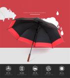 단단한 나무 긴 손잡이 우산