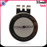 Soft Enameled Silver Plated Golf Hat Clip com Ball Marker