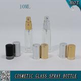 10ml正方形の明確なガラス香水ポンプスプレーのびん